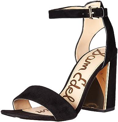 6252be9d339c Sam Edelman Women s Synthia Dress Sandal Black Suede 9.5 ...