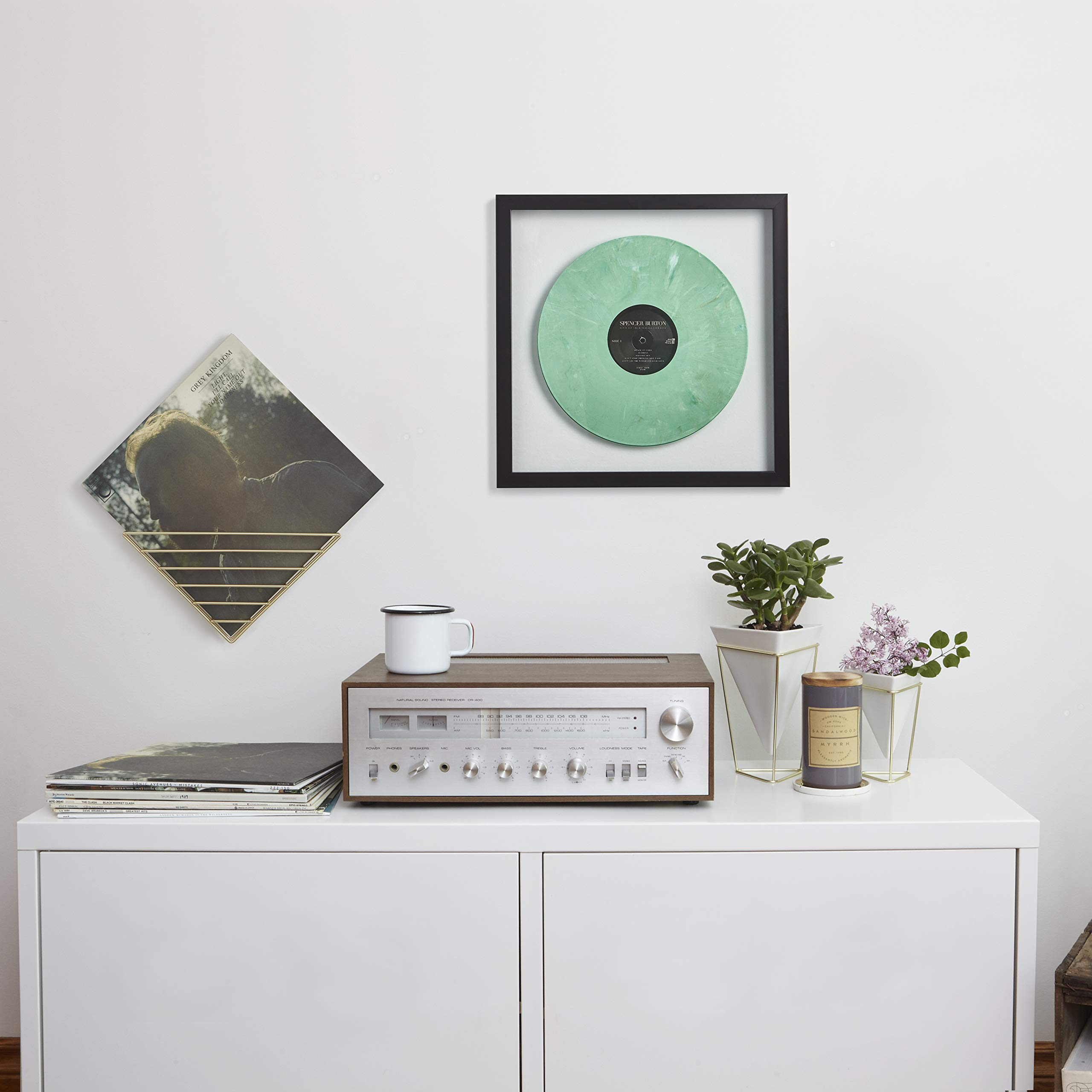 Umbra Record Album Frame 14-1/2x14-1/2-Inch, Modern Picture Frame Designed to Display a Floating 12-Inch by 12-Inch Album Cover by Umbra (Image #3)