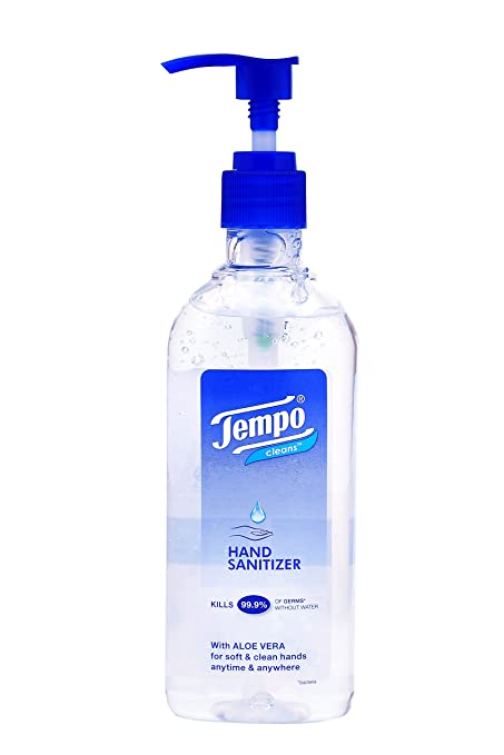 Tempo Cleans Hand Sanitizer Pump Bottle 250 Ml Amazon In