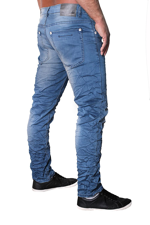 BLUE MONKEY Herren Slim Jeans BM4218 Blau BM4218