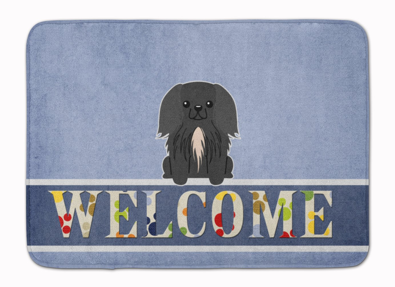 Carolines Treasures Pekingnese Black Welcome Floor Mat 19 x 27 Multicolor