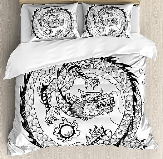 Dragon Housse De Couette Par Ambesonne Ethnique Asiatique
