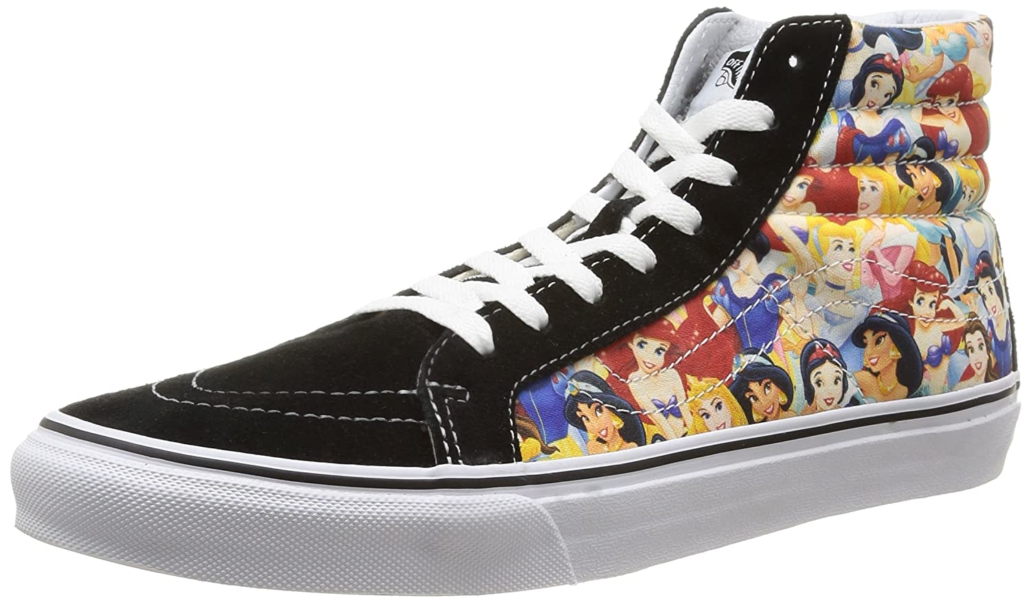 Amazon.com | Vans Disney Womens Black Multi Princess SK8-Hi Sneakers-UK 5 | Fashion  Sneakers