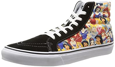 Vans Disney Womens Black Multi Princess SK8-Hi Sneakers-UK 3