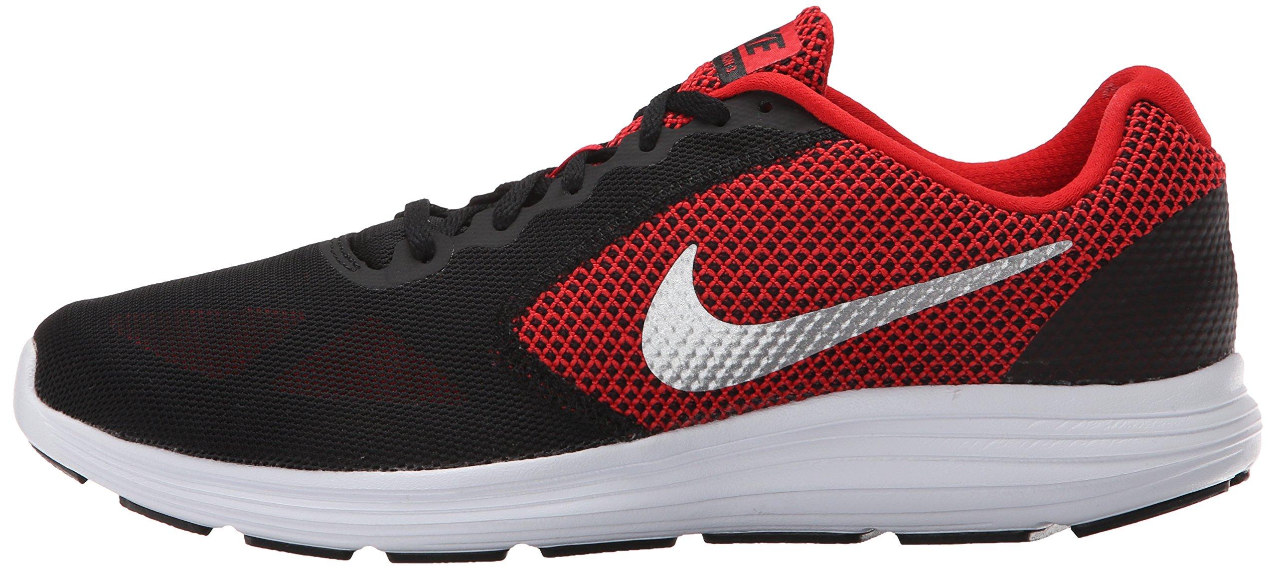 nike mens revolution 3 running shoe university red