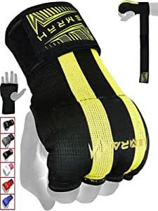 EMRAH Pro Boxing Hand Wraps Inner Gloves for Punching Padded Bandages Under Mitts, Quick Wraps, Fist Protector - MMA, Muay Thai, Kickboxing & Martial Arts Training