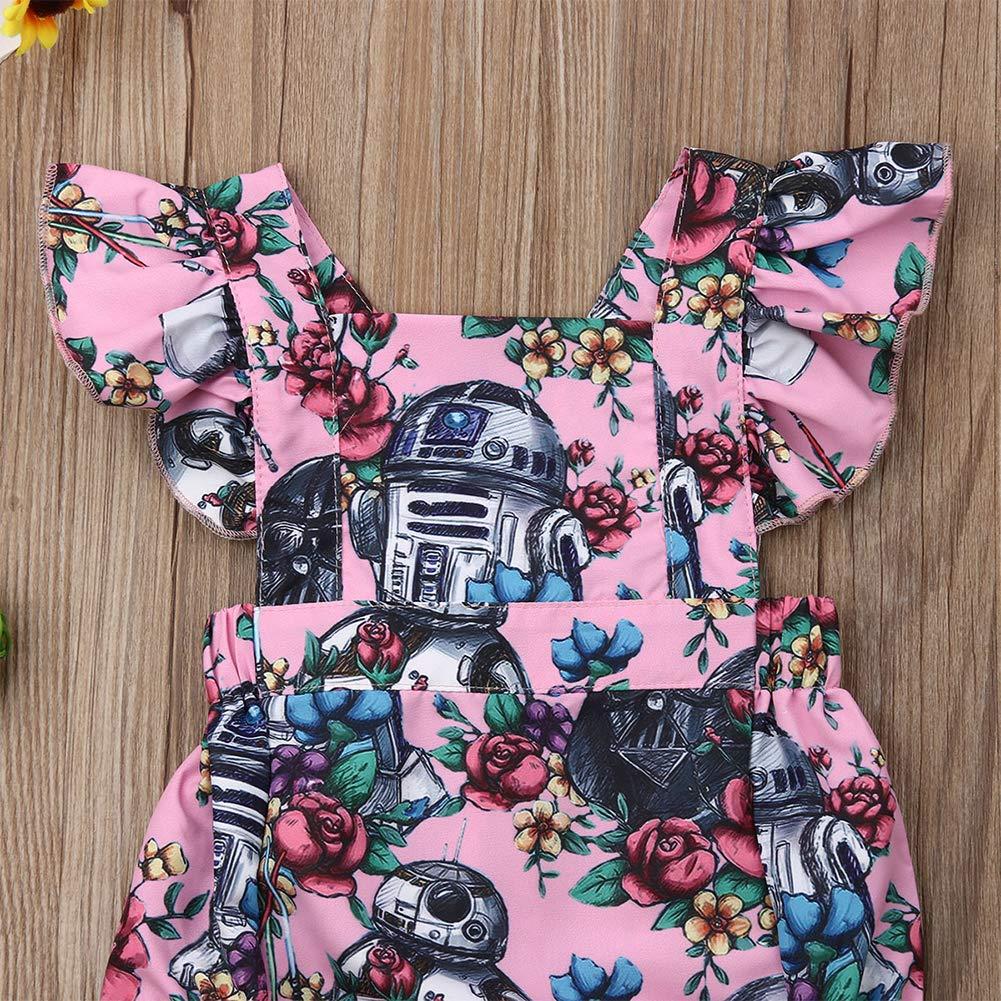 Baby Girl Dress Star Wars Newborn Romper Floral Ruffle Princess Tutu Dress Sundress Summer