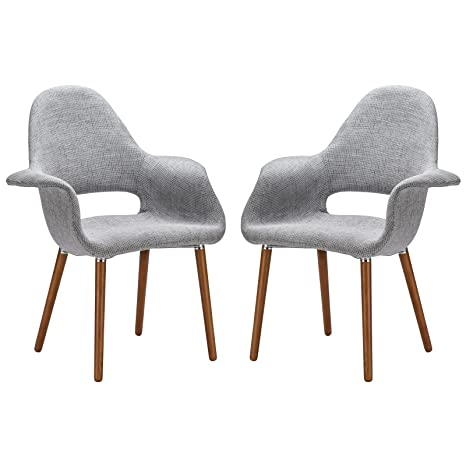 Enjoyable Poly And Bark Barclay Dining Chair In Light Grey Set Of 2 Uwap Interior Chair Design Uwaporg