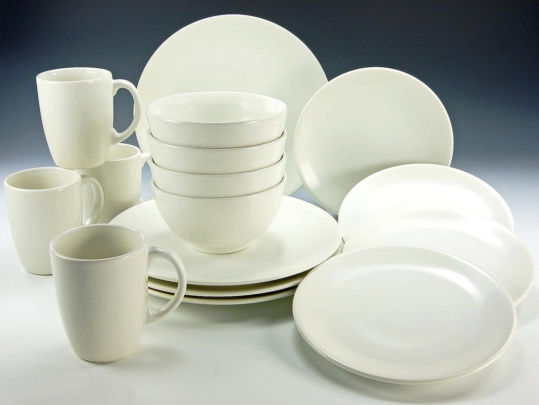 Creatable 17543, Serie schwarz and Weiß, 16 teilig weiß-matt weiß-matt weiß-matt Kombiservice, Stein, 41 x 33 x 31 cm, Einheiten B01N6T2DXJ Kombiservice dd0bea