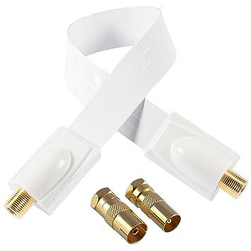Poppstar 1 x 28 cm SAT ventana puertos Cable (Coax Cable Muy soporte de