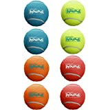 Outward Hound Squeaker Ballz Squeaky Tennis Ball Dog Toys, Small, 8 Pack
