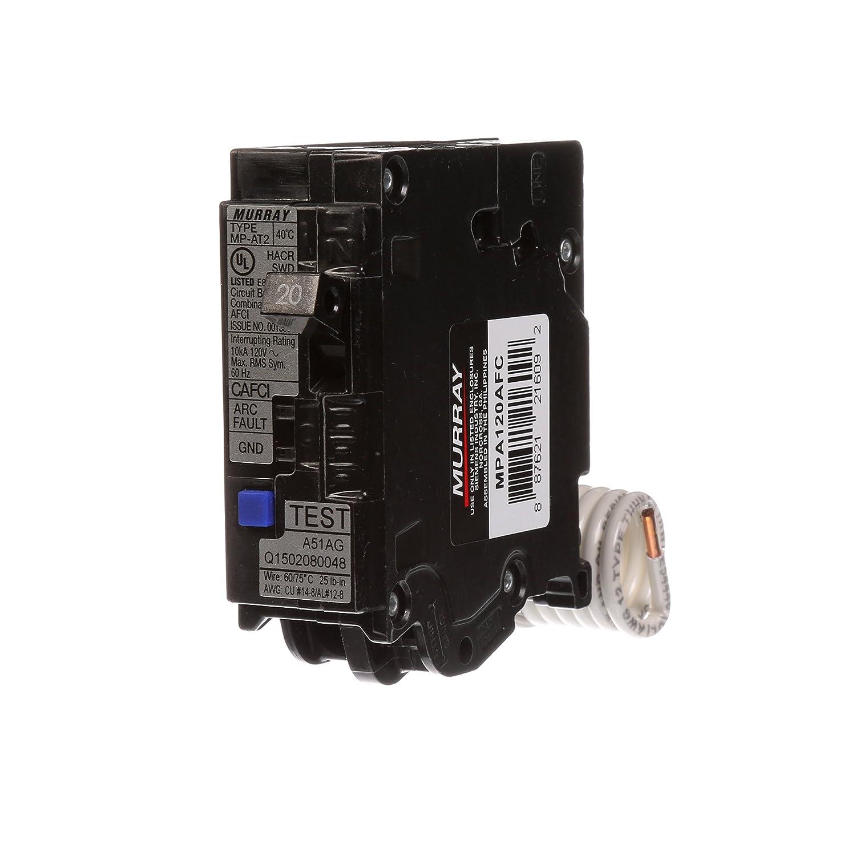 Single Pole 120 Volt 65,000 AIC Plug On Combination AFCI Breaker US2:MPA120AFCM 20 Amp Murray Murray