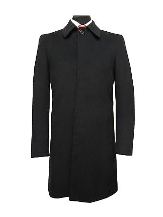 Herren Hoch Geschlossen Mantel 46Bekleidung Schwarz Nnwvm08