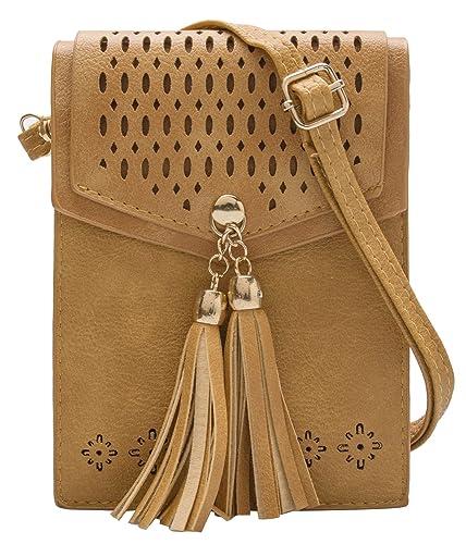e6d591f5e887 OLIVIA K Womens Cute Mini - Tribal Theme - Crossbody Purse Wallet Pouch Bags  - Tassel