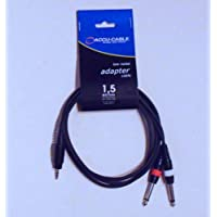 Accu Cable 1.5m 3.5mm S-Jack to 2 x 6.3mm M-Jack Audio Cable