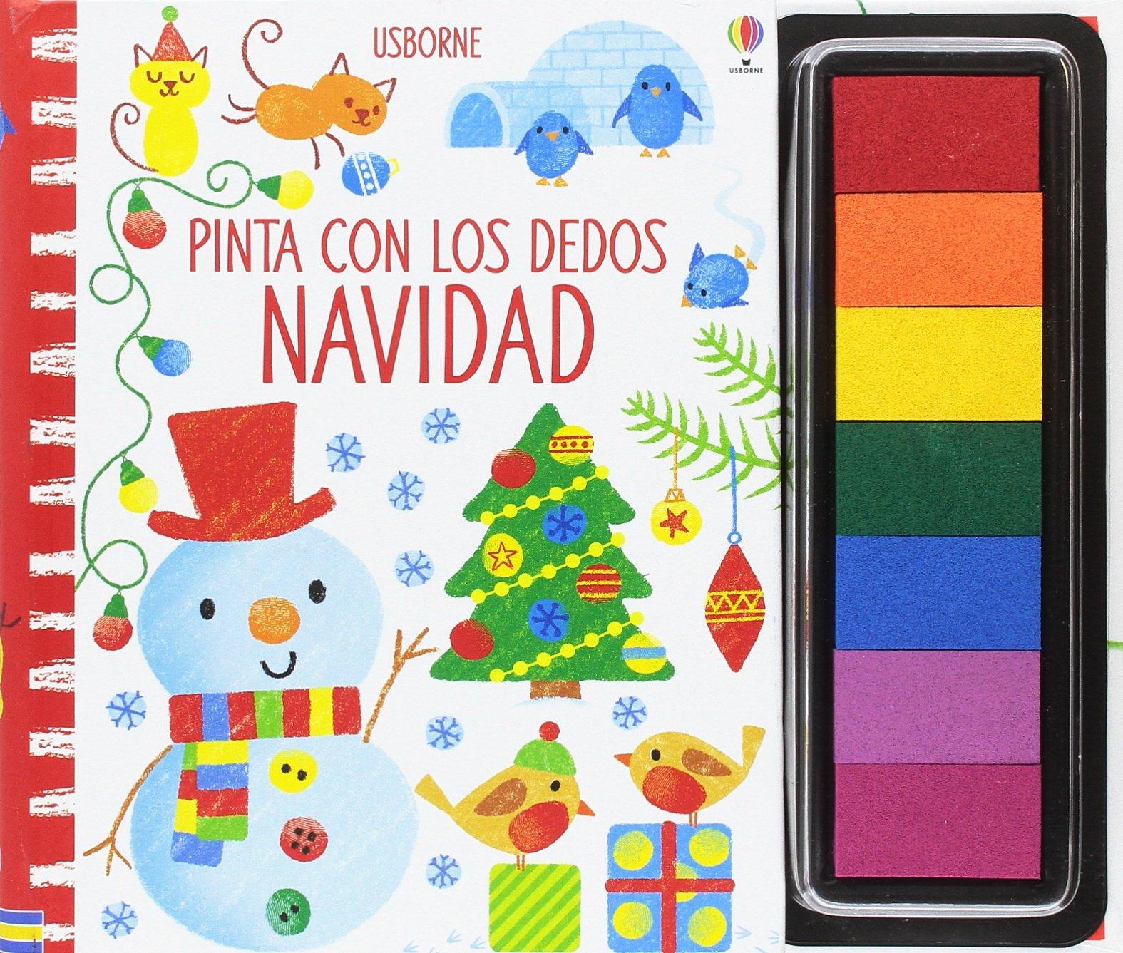 Pinta con los dedos. Navidad: Amazon.es: Fiona Watt, Fiona Watt ...