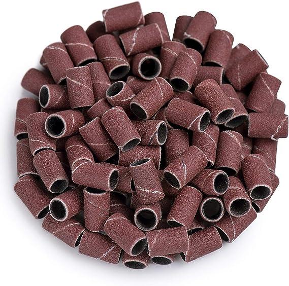 50pcs Schleifband Trommelhülsen Sandpapier Ring Set 2X Dorne Drehwerkzeug DIY