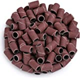 MelodySusie 100 pcs Professional Sanding Bands for nail drill, 180 Grit Efile Sanding Piece Set