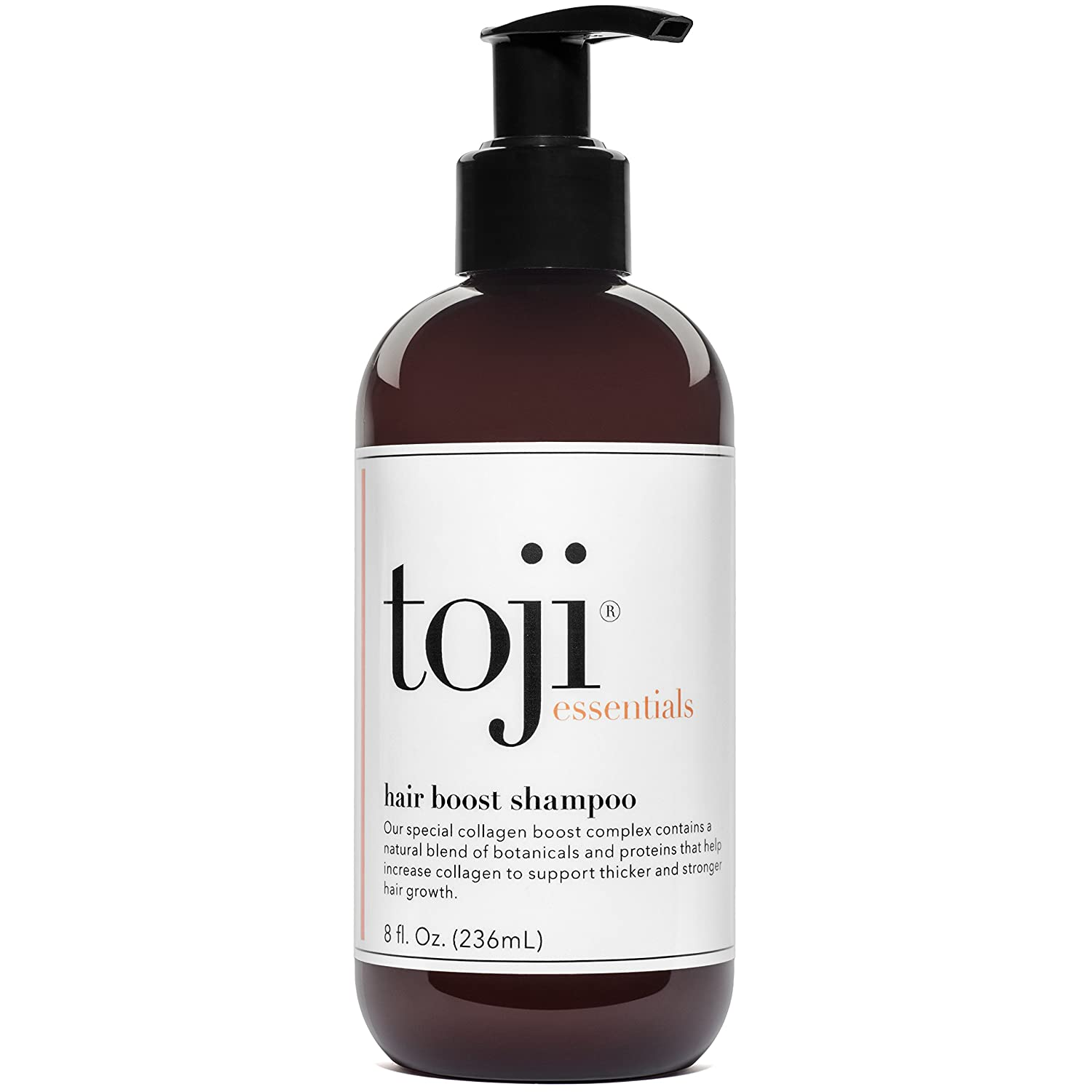 Toji: Essentials Hair Boost Shampoo w/Special Collagen Boost Complex | Naturally Supports Hair Growth & Anti Hair Loss Prevention For Men and Women