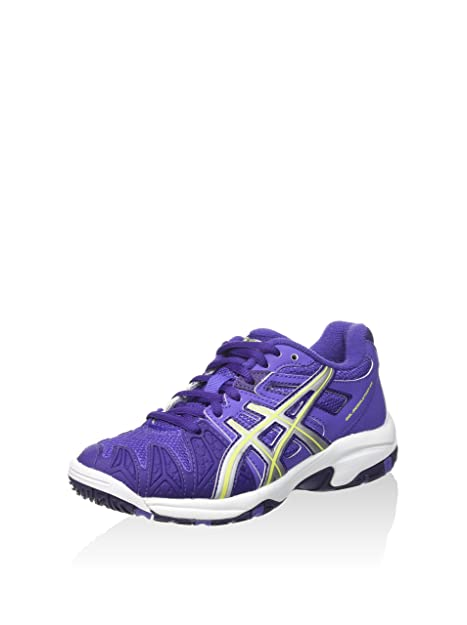 Asics Gel-Resolution 5 GS, Zapatillas de Tenis Unisex-Niño, Lavanda/Amarillo / Morado, 38 EU: Amazon.es: Zapatos y complementos