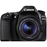 Canon EOS 80D Single Kit with EFS 18-55mm f 3.5-5.6 IS STM Digital Camera - SLR(80DKIS) 3Inch Display,Black (Australian…