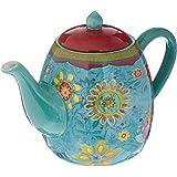 وعاء شاي سيراميك أزرق اللون من شركة Certified International ، مجموعة غروب الشمس التونسى 1133 مل