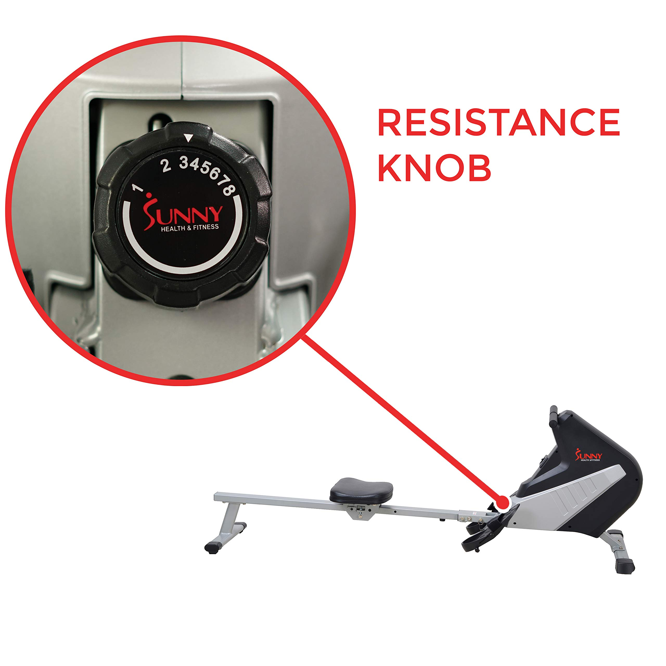 Sunny Health & Fitness SF-RW5634 Magnetic Rowing Machine Rower w/ LCD Monitor by Sunny Health & Fitness (Image #5)