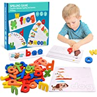 Tesoky Educational Toys for 2-8 Year Old Boys Girls,Kids Learning Toys Age 3-8 Spelling Games Gifts for 3-8 Year Old…