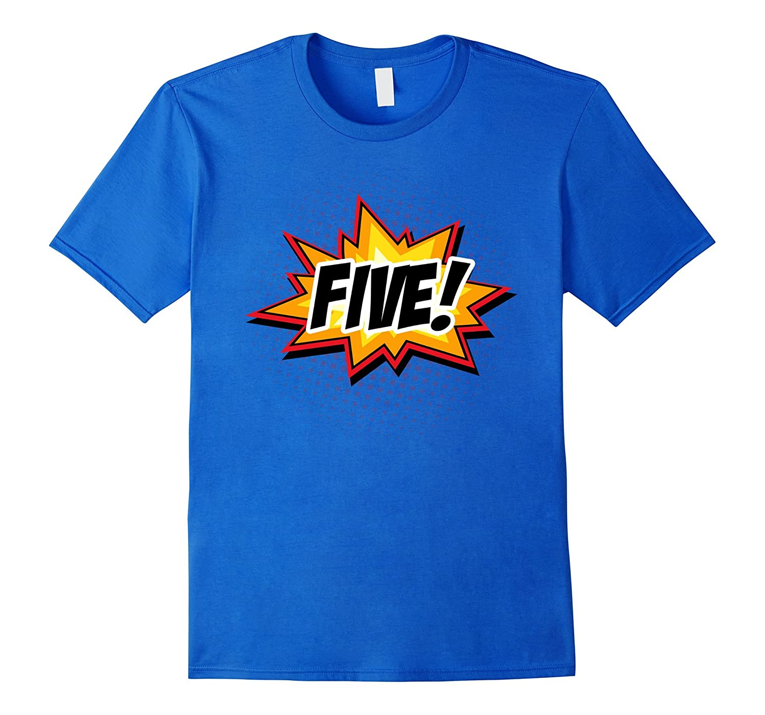 SuperHero Birthday Shirt 5 Year Old Boys And Girls ALL AGES CL