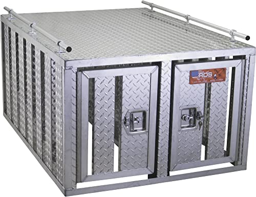 Southern-Style-2-Door-Diamond-Plate-Dog-Box-without-Floor