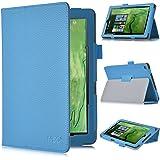 Odys Windesk 9 Plus 3G Tablet Schutz, IVSO hochwertiges PU Leder Etui hülle Tasche Case - mit Standfunktion, ist für Odys Windesk 9 Plus 3G V2 8,9 Zoll Tablet-PC perfekt geeignet, Blau