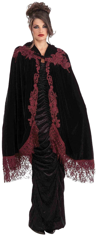 Forum Novelties Womens 45-Inch Velvet Lace Vampiress Cape