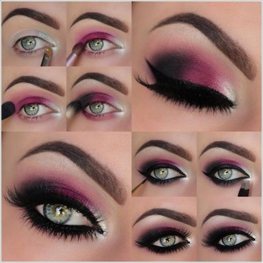 21 easy step by step makeup tutorials from instagram | glitter eye.