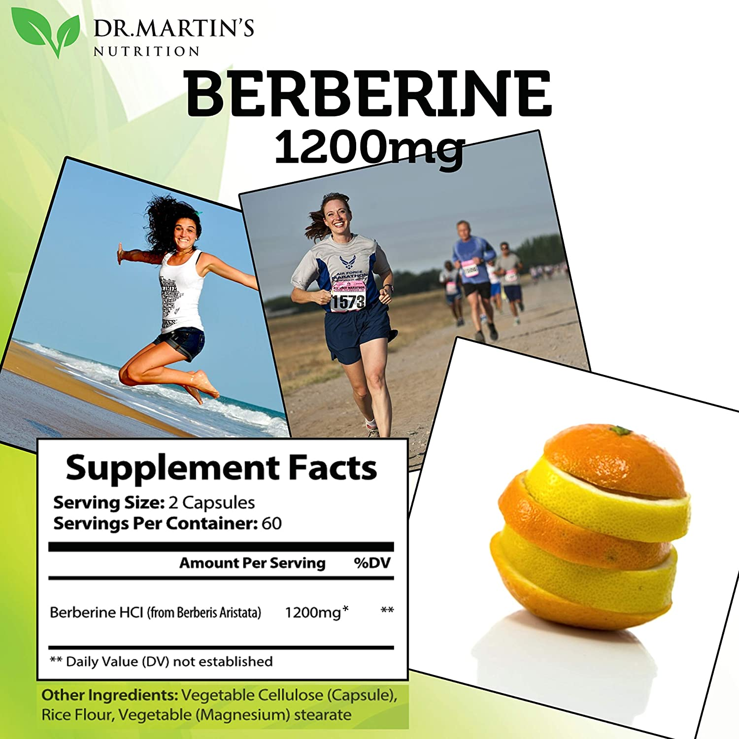 Potent 1200mg Berberine Supplement | 120 Capsules | Berberine HCL Supplement for Healthy Blood Sugar & Insulin Support | Boost Immune System | Cardiovascular Support & Glucose Metabolism: Health & Personal Care