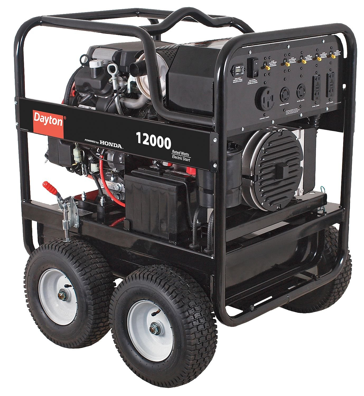 Dayton Portable Generator Watts Gas Amazon Industrial