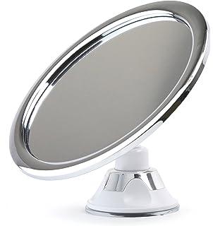 fogless shower mirror for shaving no fog chrome bathroom mirror by sparrow decor 575
