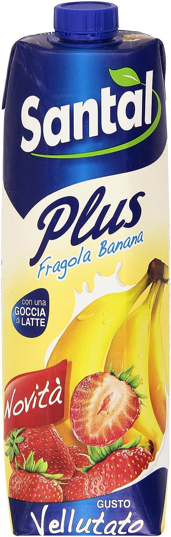 SANTAL - Concentrado Plus Fresa Banana, Con Una Gota de leche - 1000 ml: Amazon.es: Alimentación y bebidas