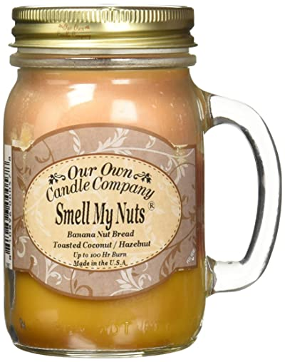 Our Own Candle Company Smell My Nuts Scented 13 oz Mason Jar Candle