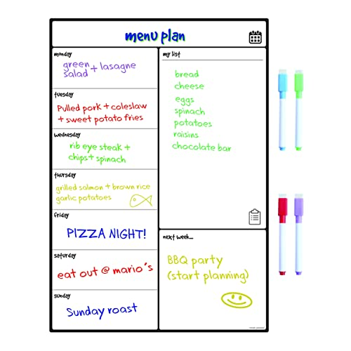 weekly food planner amazon co uk
