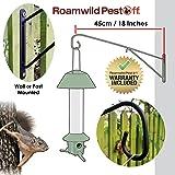 Roamwild PestOff Large Bird Feeder Wall Post Hanging Bracket Hook Hanger - Bird Feeder Wall Mounted Version - 40cm/18 inches