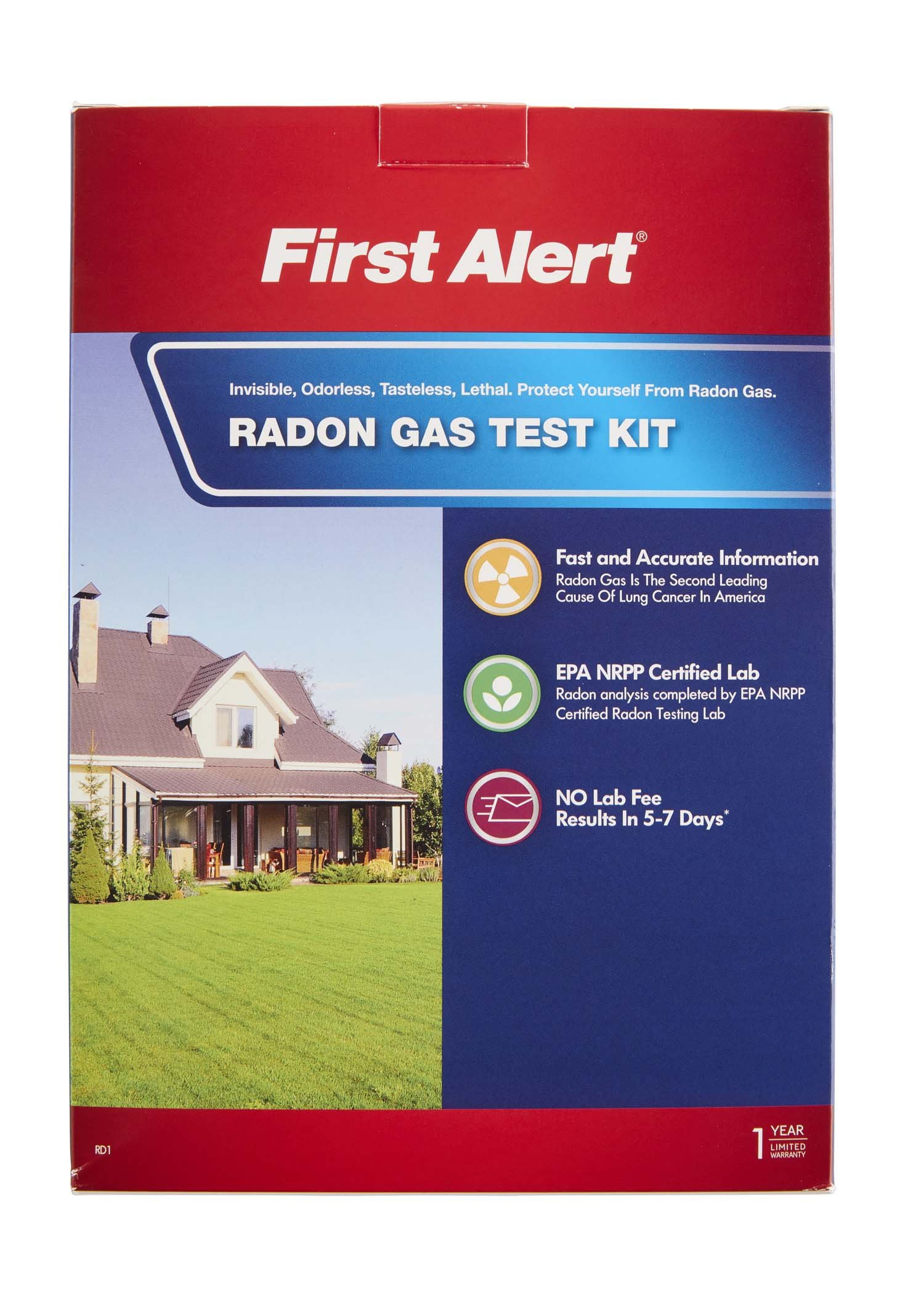 First Alert Radon Gas Test Kit, RD1 by First Alert