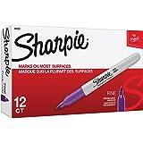 Sharpie 30008 Fine Point Permanent Marker, Purple, 12-Pack by Sharpie