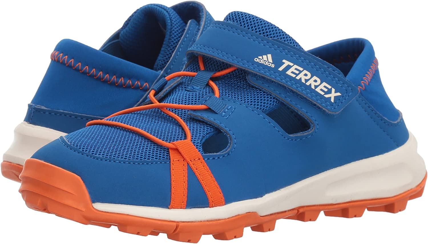 adidas outdoor Unisex-Kids Terrex Tivid Shandal CF K 3.5 Medium Youth US Big Kid Blue Beauty//Orange//Chalk White