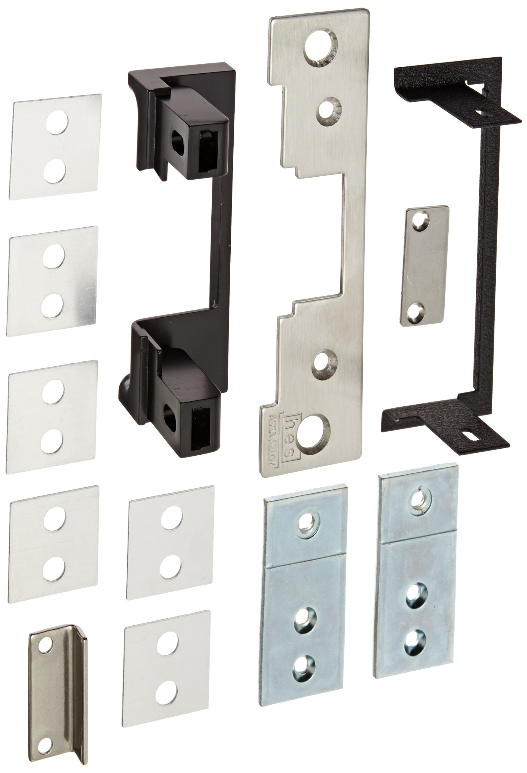 HES Stainless Steel 791 Faceplate for 7000 Series Electric Strikes for Cylindrical Locksets Up To 5/8'' Throw, Satin Stainless Steel Finish by HES (Image #1)