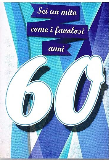 Auguri Buon Compleanno 60.Buon Compleanno 60 Anni Biglietto Di Auguri Musicale Amazon