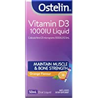 Ostelin Vitamin D3 1000IU Liquid, Maintains Bone and Muscle Strength, Helps Boost Calcium Absorption, 50 milliliters