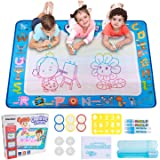 Hautton Aqua Magic Water Doodle Mat, 39.5 x 31.5 Inch Large Drawing Coloring Mat Painting Writing Board with 15…