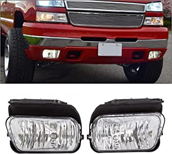 For 2003-2006 Chevy Silverado Avalanche Bumper Driving Fog Lights Lamps Left+Right Replacement Pair