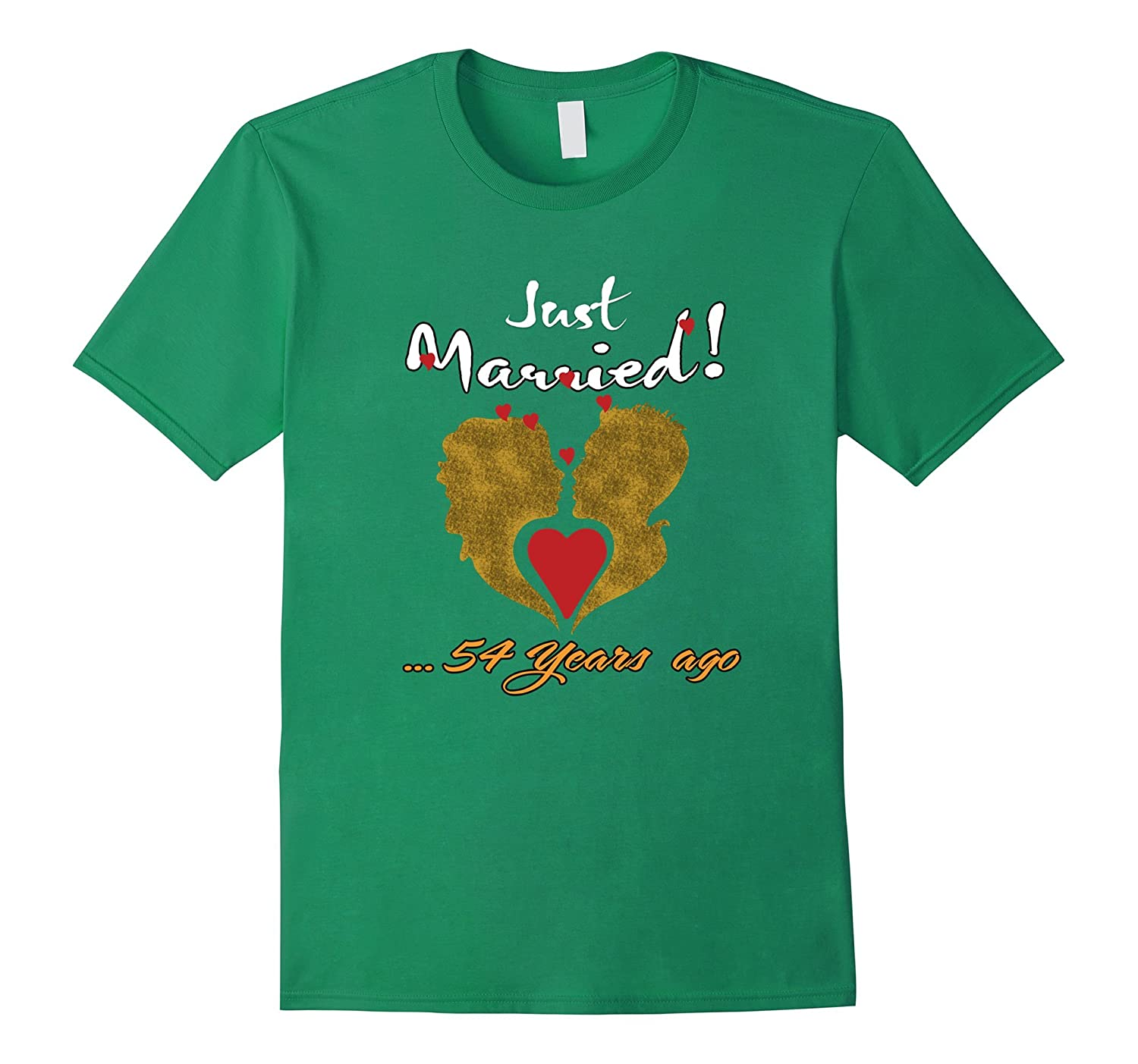 f0a9ab36 Just 54 Years Married Anniversary T shirt for Wife Husband-PL ...