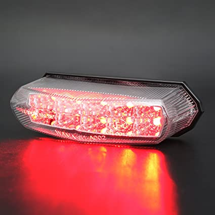 Electric Vehicle Parts Universal Red Cross Led Rear Tail Brake License Plate Light For Choppers Quads High Quality